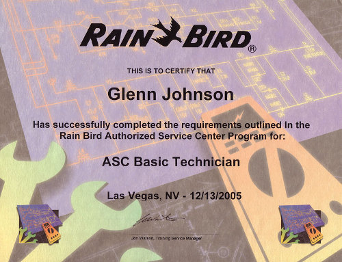 Rain Bird Authorized Service Center Technician