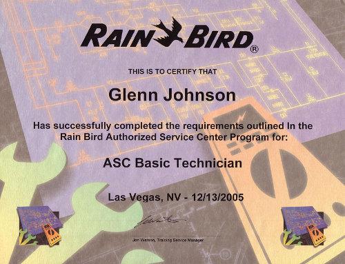 Rain Bird Authorized Service Center Technician