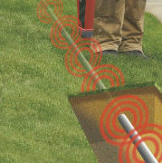 Detection of underground wires